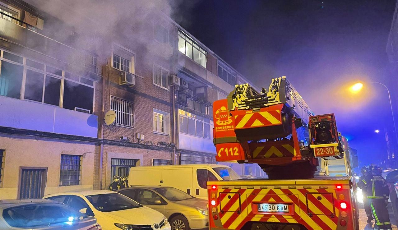Imagen del incendio en Alcalá de Henares