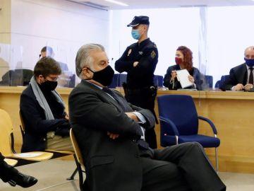 Luis Bárcenas, durante la primera sesión del juicio