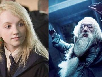 Luna Lovegood y Dumbledore en 'Harry Potter'
