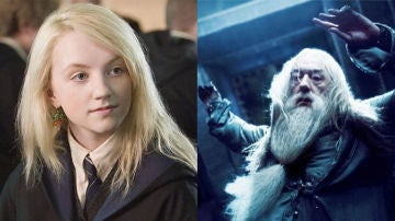 Luna Lovegood y Dumbledore en 'Harry Potter'