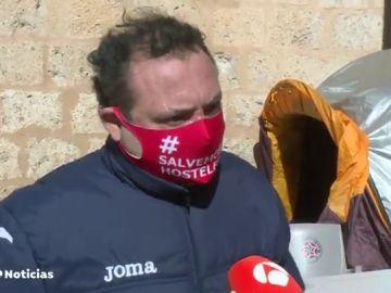 Hostelero en huelga de hambre por la situación provocada por el coronavirus