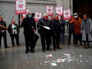 Imagen de las protestas de los hosteleros en Madrid
