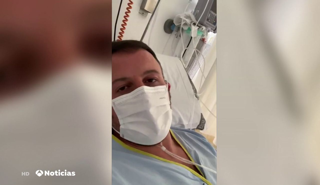 Pablo Ruz, senador del PP, comparte un vídeo desde el hospital ingresado por coronavirus con sus padres