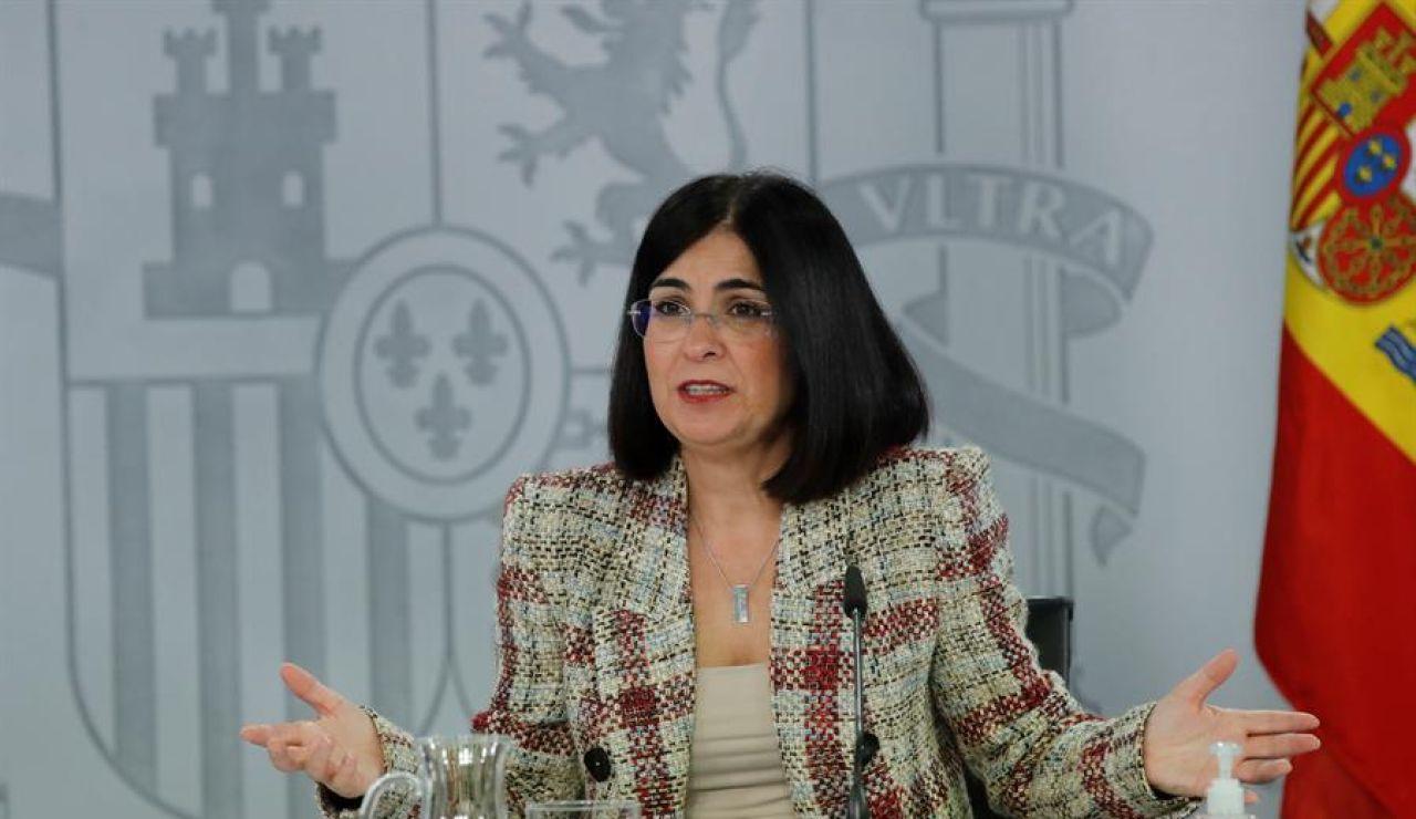 """Carolina Darias: """"Ya estamos llegando a las 800.000 personas que han recibido en nuestro país las dos dosis de la vacuna"""""""