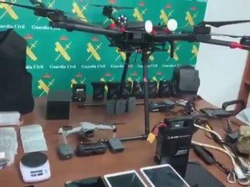 Desmantelada una red tráfico de drogas que utilizaban los narcodrones para operar