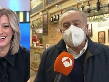 """El agradecimiento de un hostelero a Susanna Grisso y Vicente Vallés, """"el José Tomás de los telediarios"""""""