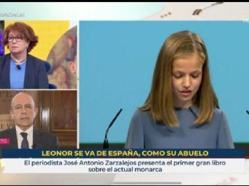Polémico rótulo de RTVE sobre los estudios en Gales de la princesa Leonor