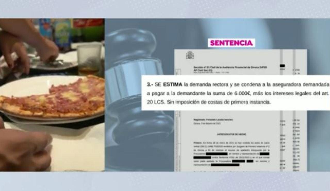 Sentencia indemnización pizzería de Girona