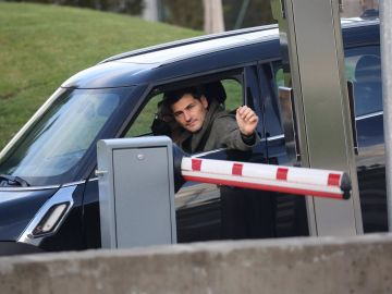 Iker Casillas llegando al hospital