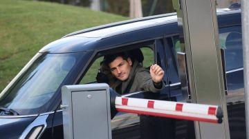 Iker Casillas llegando al hospital