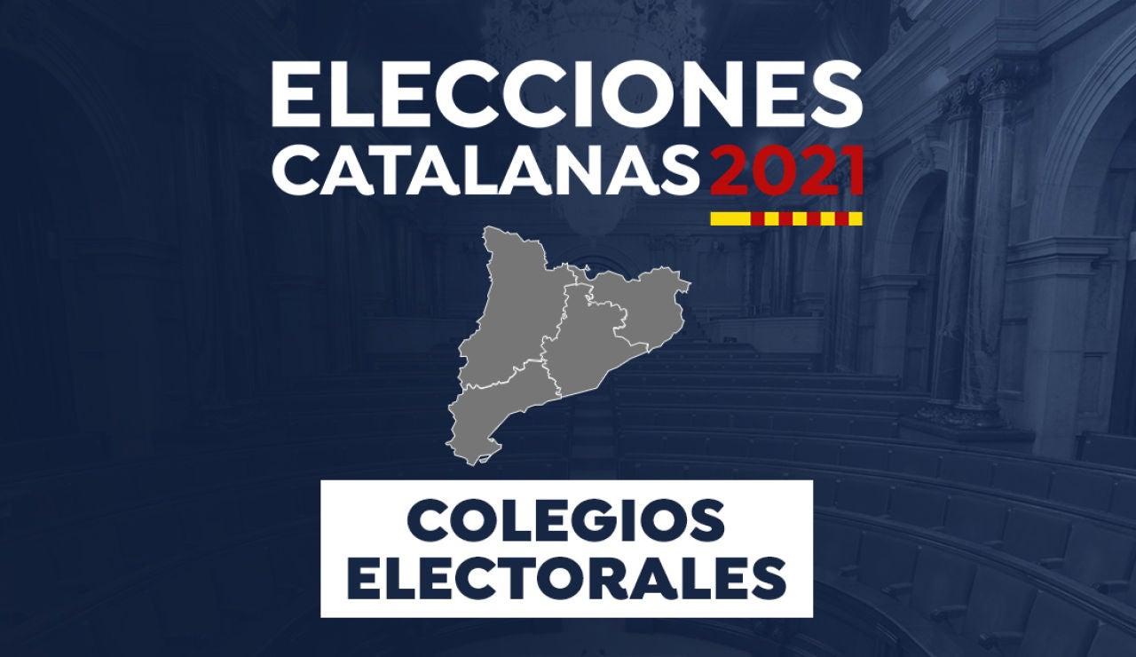 Elecciones Cataluña 2021: Mapa colegios electorales
