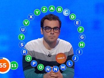 Tan solo 10 aciertos en la primera vuelta: ¿Ha sido 'El Rosco' más difícil de Pablo en 'Pasapalabra'?