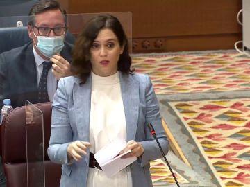 """Isabel Díaz Ayuso a Isa Serra: """"el colega que rotula en TVE"""" debería ponerte """"portavoz de Podemos y condenada"""""""