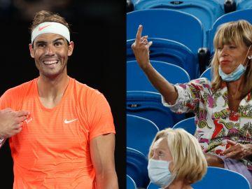 El momento surrealista en que una aficionada hace una peineta a Rafa Nadal en el Open de Australia
