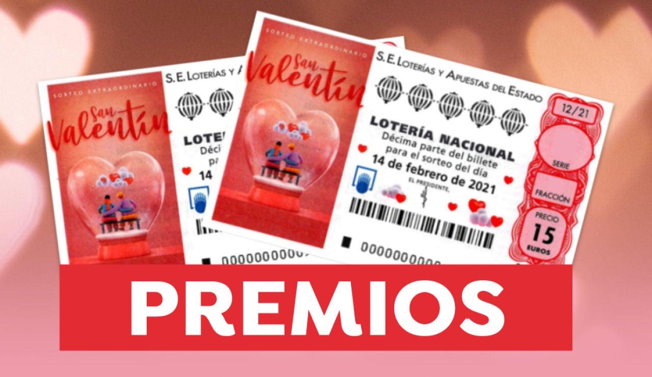 Premios del Sorteo Extraordinario de San Valentín de Lotería Nacional