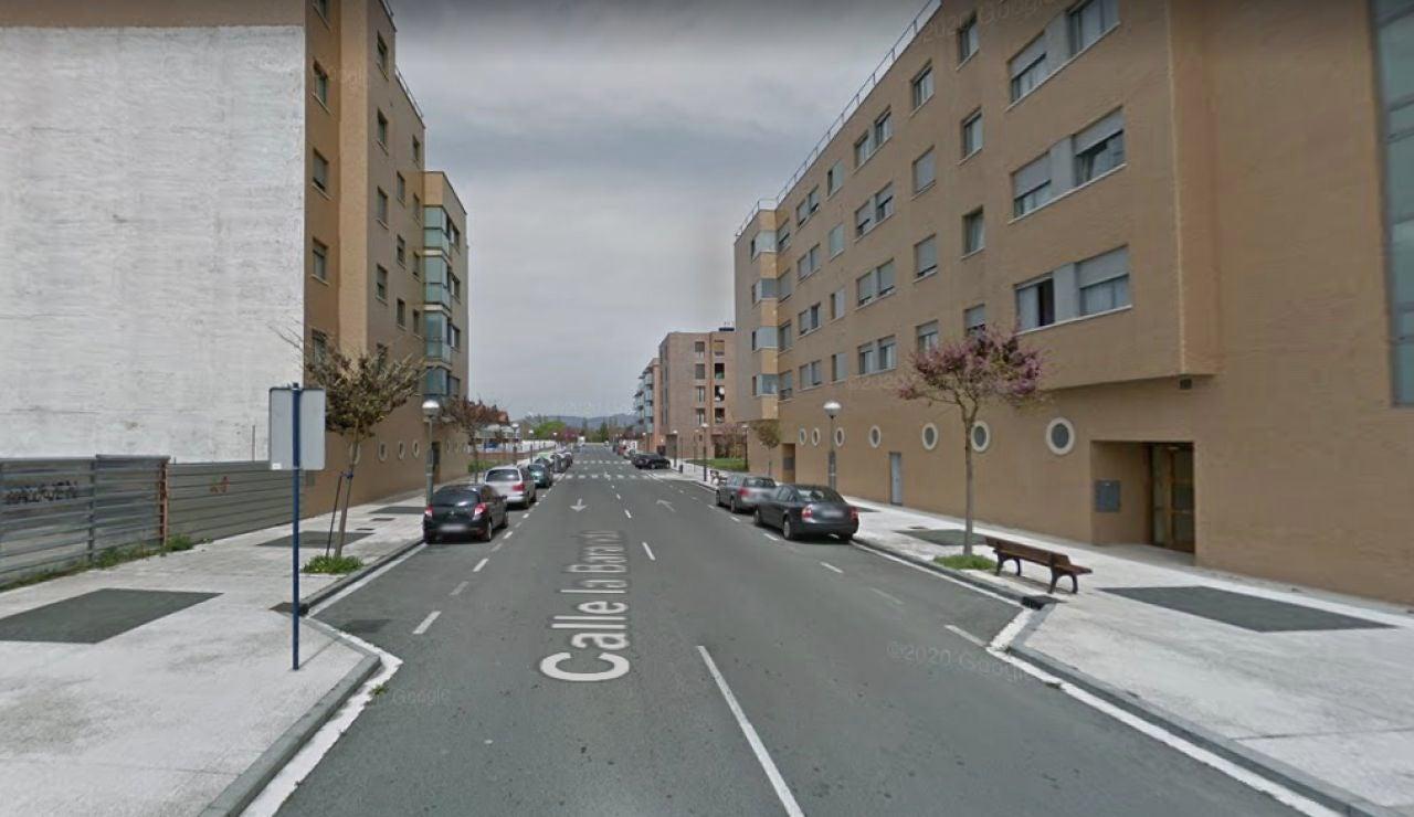 La calle de Vitoria donde se produjo el incidente