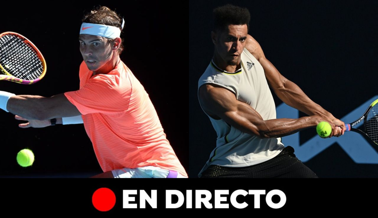Rafa Nadal - Michael Mmoh: partido del Open de Australia, en directo