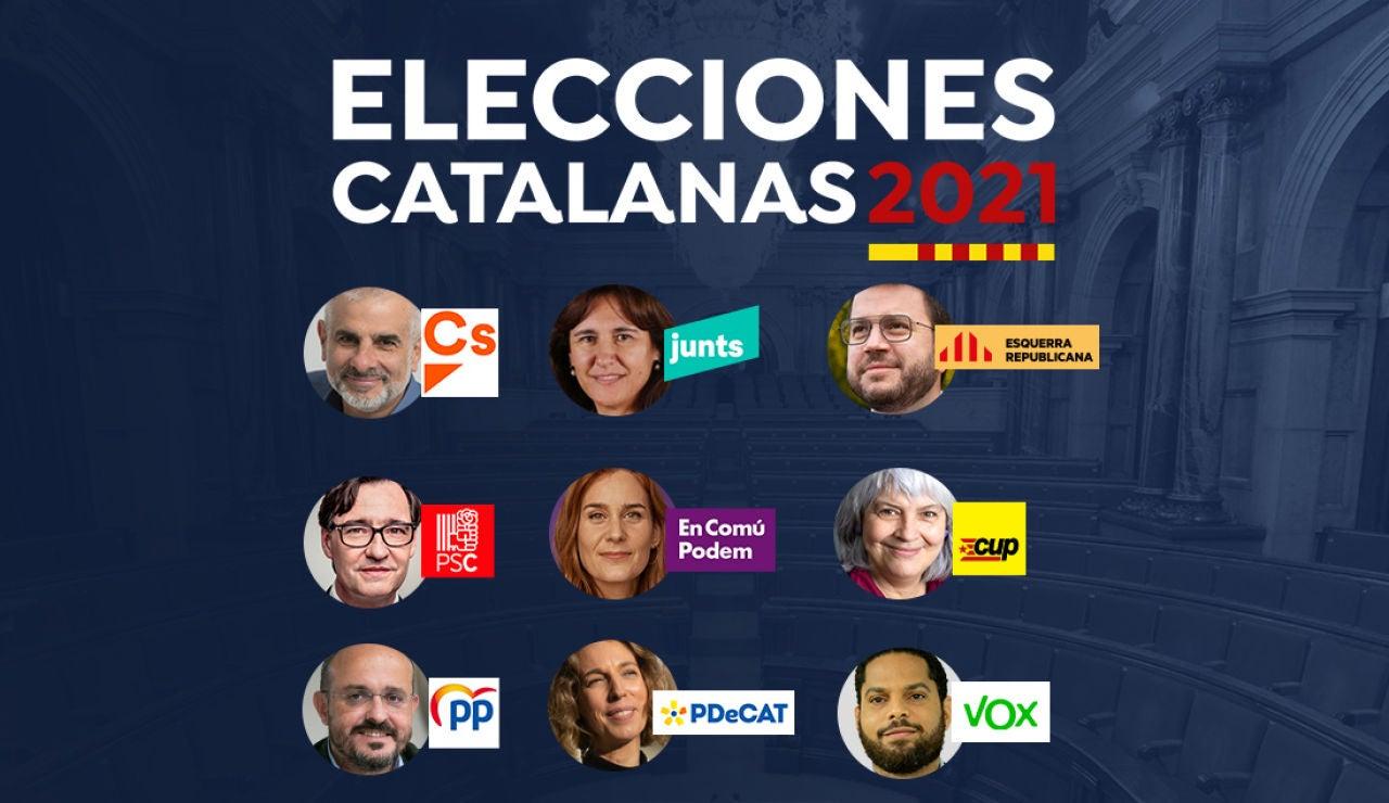 Elecciones Cataluña 2021: Partidos y candidatos en el 14-F