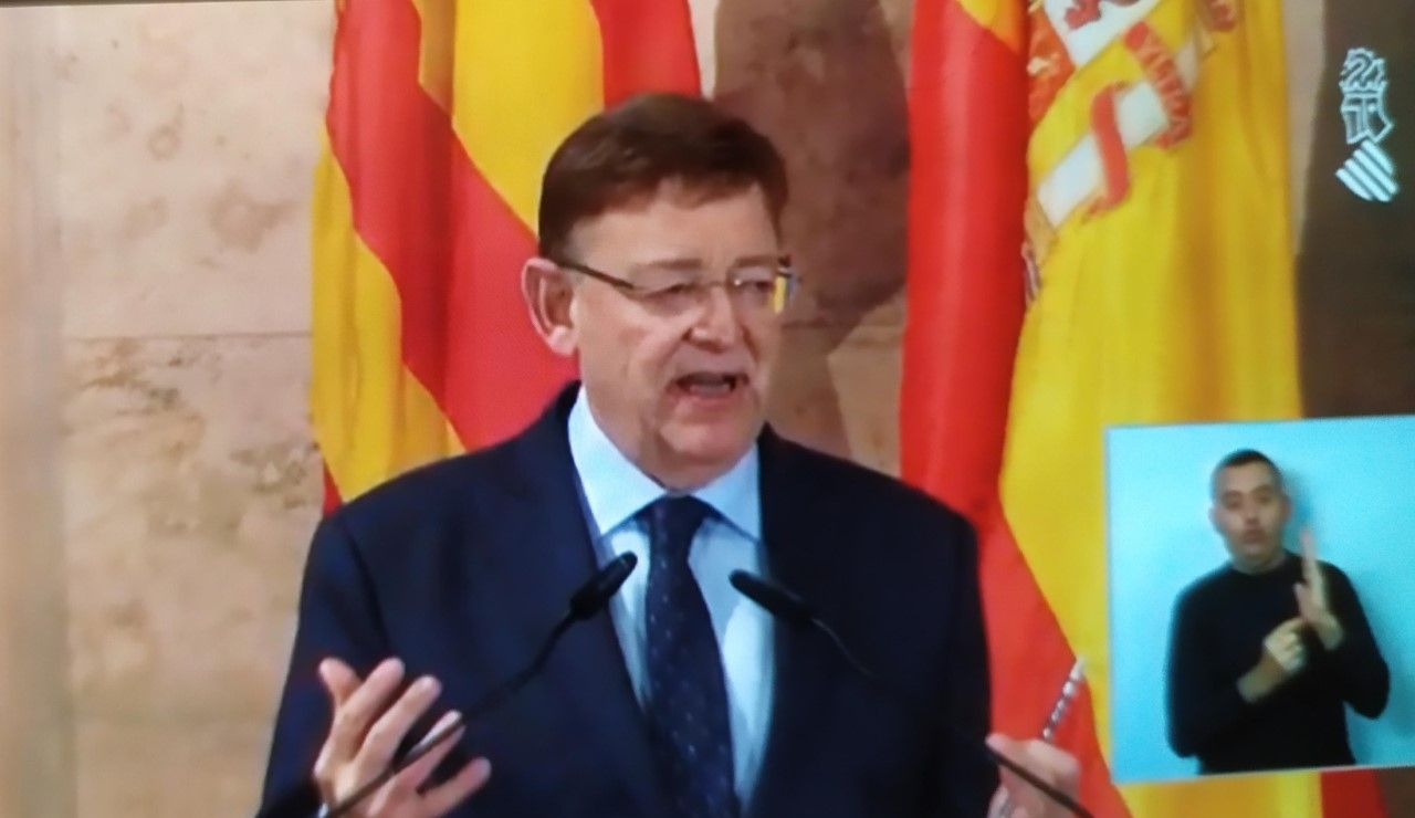 Ximo Puig anuncia la prórroga de las restricciones