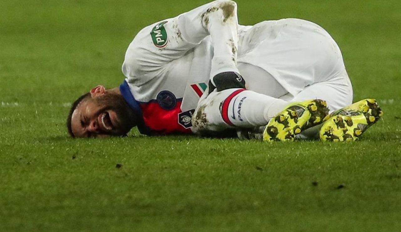 Neymar se lesiona a una semana del partido de Champions League entre PSG y Barcelona