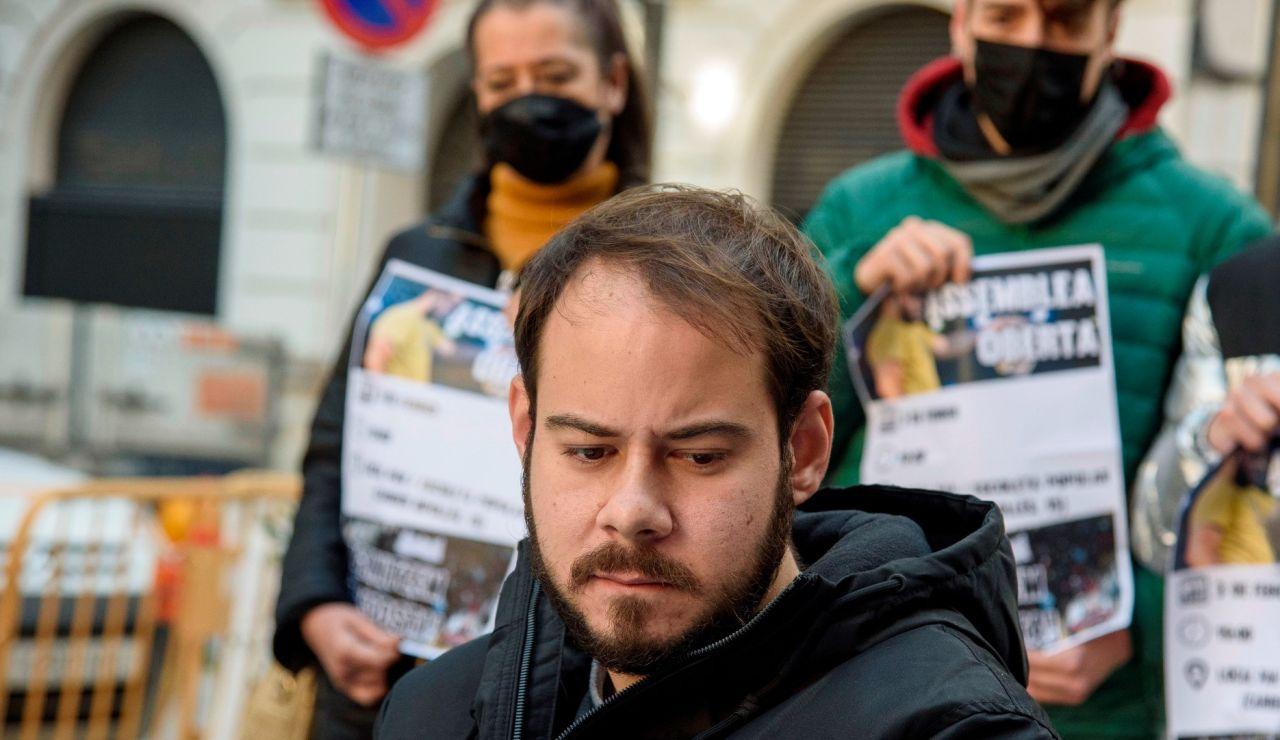 Pablo Hasel, en una manifestación.