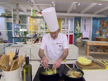 El truco para freír las patatas paja de Karlos Arguiñano