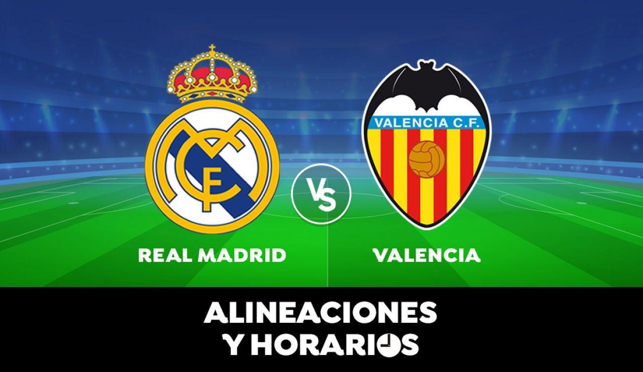 Real Madrid - Valencia: Horario, alineaciones y dónde ver el partido en directo | Liga Santander
