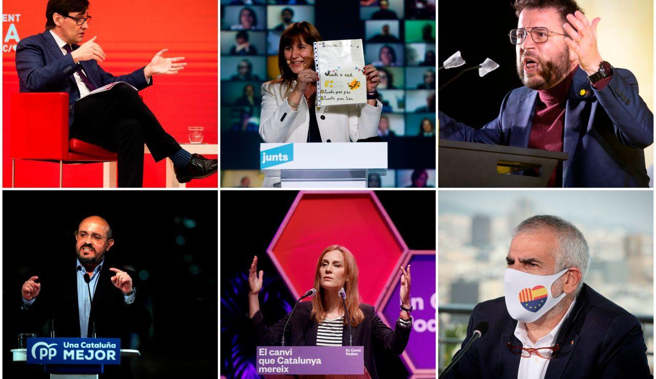 Los candidatos a las elecciones catalanas apuran sus últimas horas de campaña electoral