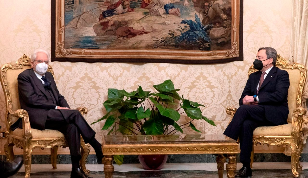 Mario Dragui y Sergio Mattarella