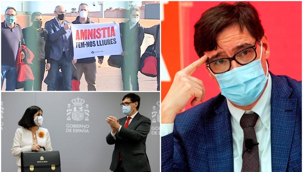 Crónica de una campaña electoral marcada por el coronavirus, la salida de los políticos de prisión y el 'efecto Salvador Illa'