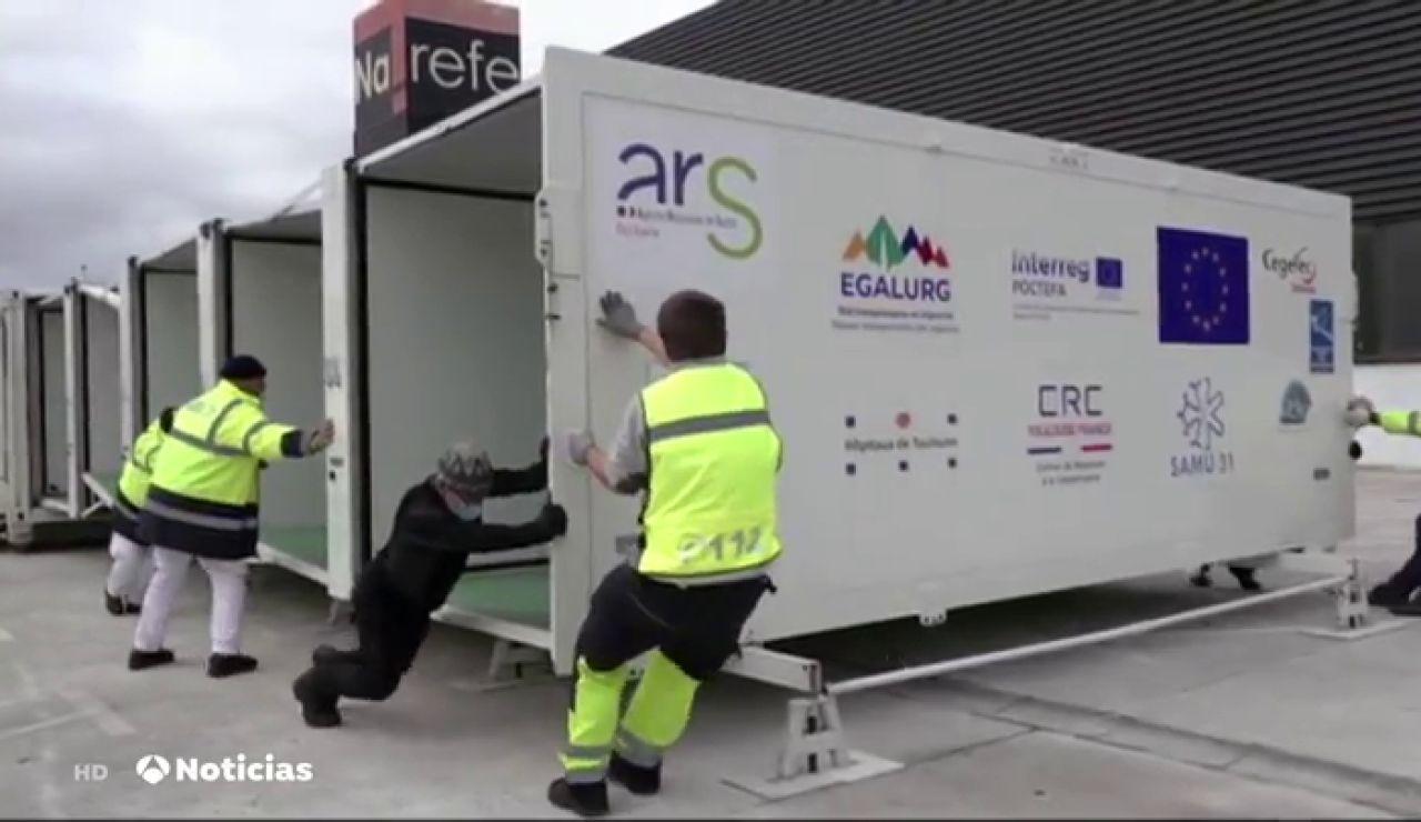 Un ambulatorio portable para vacunar a cientos de personas contra el coronavirus en zonas rurales del Pirineo navarro
