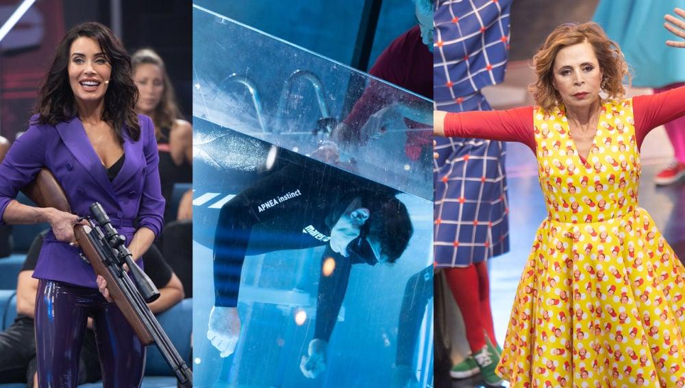 La musa Pilar Rubio, el récord de Apnea y el baile de Ágatha Ruiz de la Prada en el quinto programa de 'El Desafío'