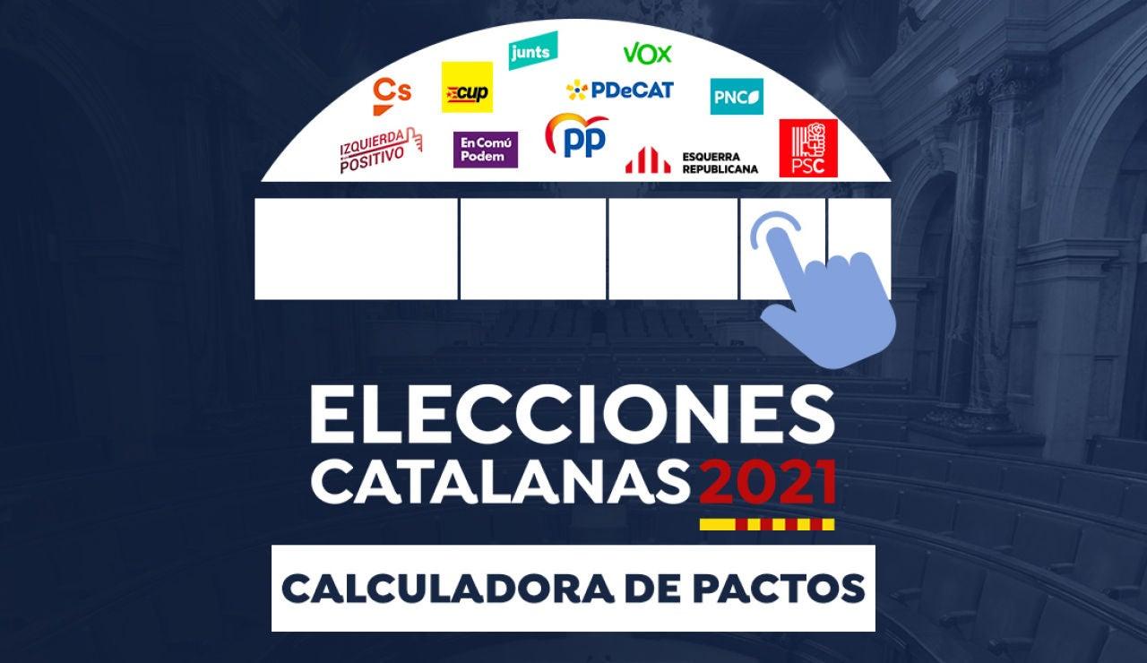 Elecciones catalanas 2021: Calculadora de los pactos tras las elecciones al Parlamento de Cataluña