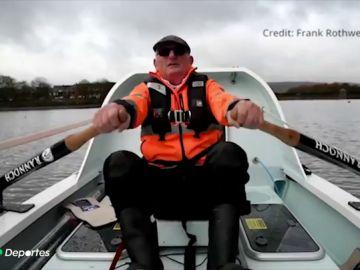 Frank Rothwell bate el récord mundial al cruzar el Atlántico a remo con 70 años