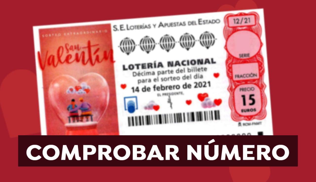 Comprobar Lotería Nacional: Resultado del Sorteo Extraordinario de San Valentín de hoy 14 de febrero