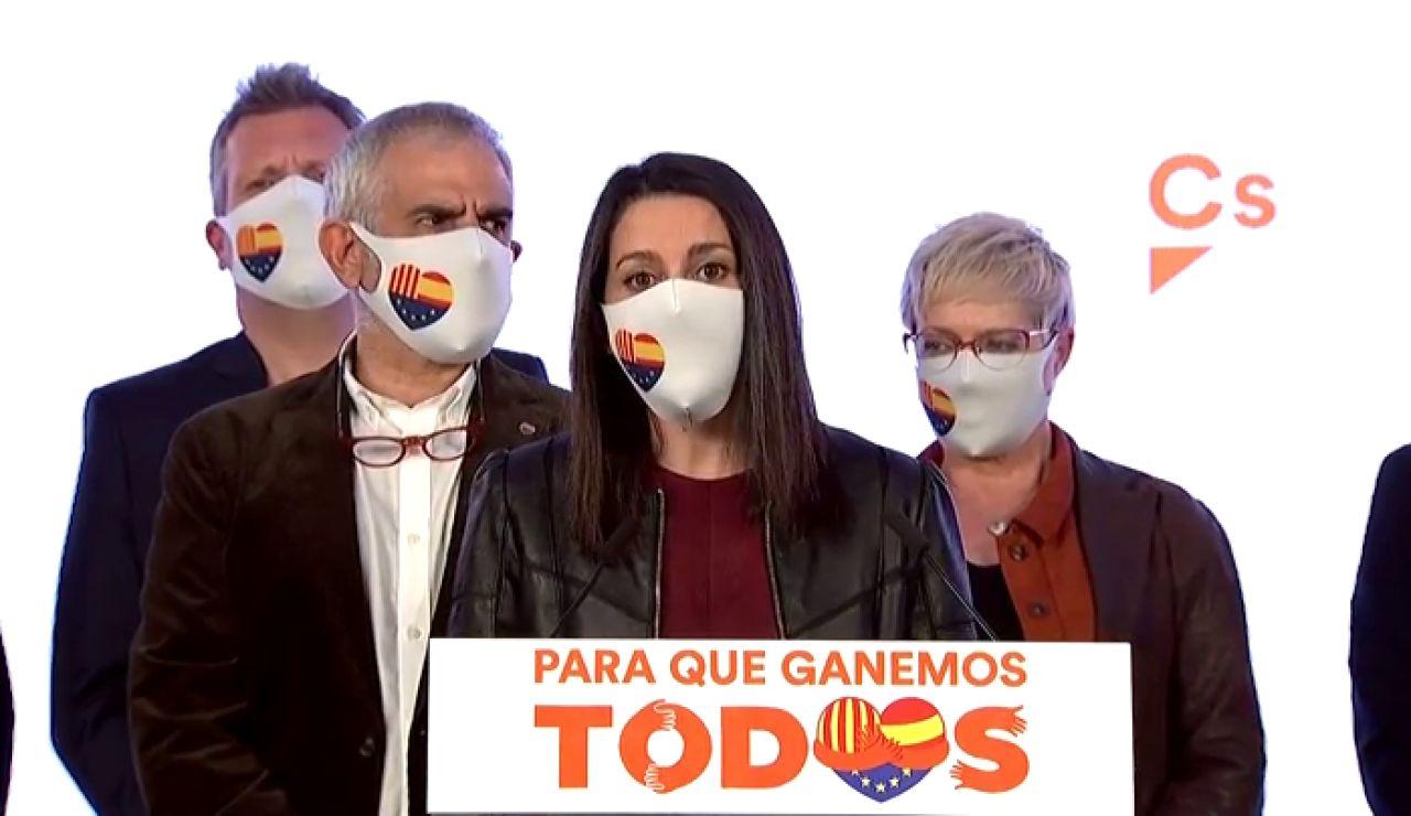 """Inés Arrimadas, tras el batacazo electoral de Ciudadanos: """"Se avecinan años duros por el resultado de las elecciones en Cataluña 2021"""""""