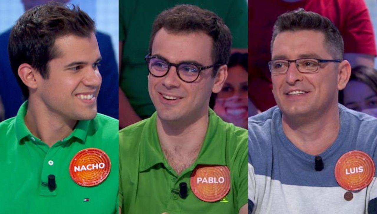 Nacho, Pablo y Luis en 'Pasapalabra'