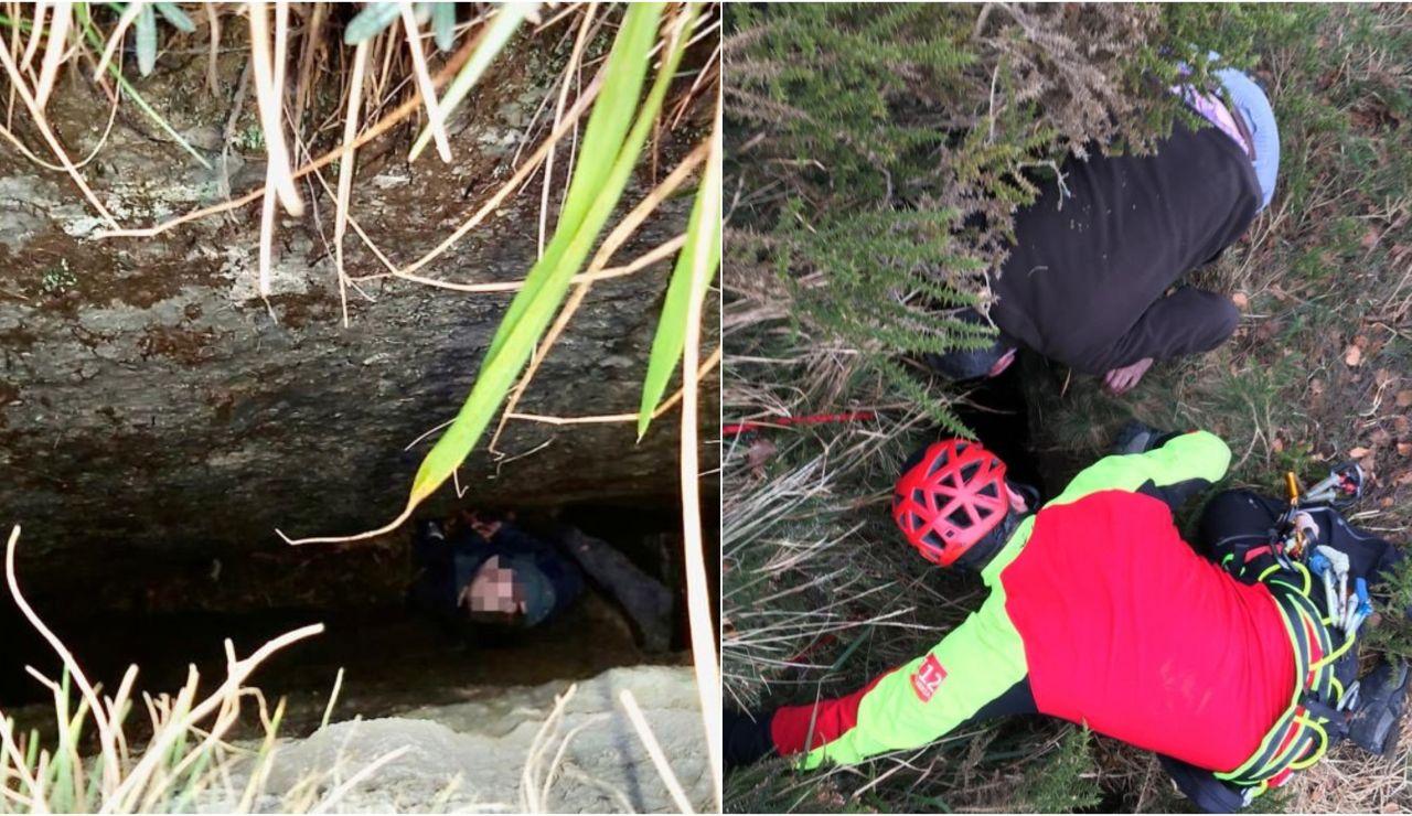 Rescatan a un niño de nueve años tras caerse en una grieta de cinco metros en Cantabria