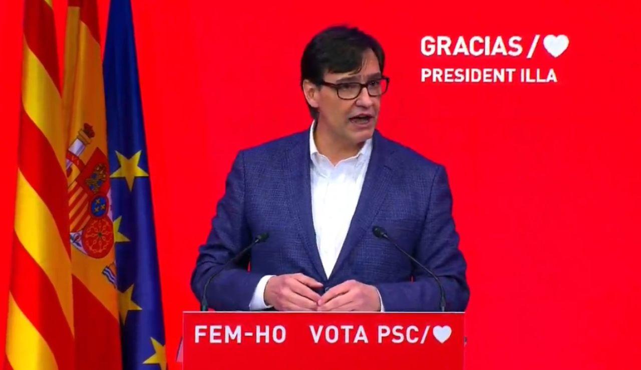 """Salvador Illa: """"Me presentaré a la candidatura; el cambio ha llegado"""""""