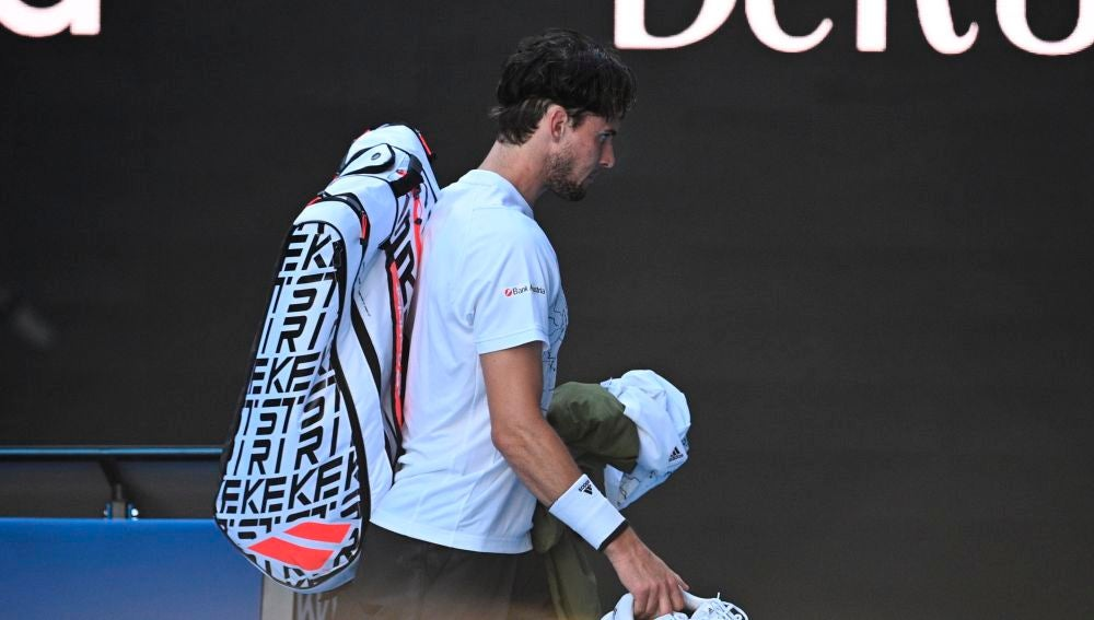 Thiem abandona la pista tras caer ante Dimitrov