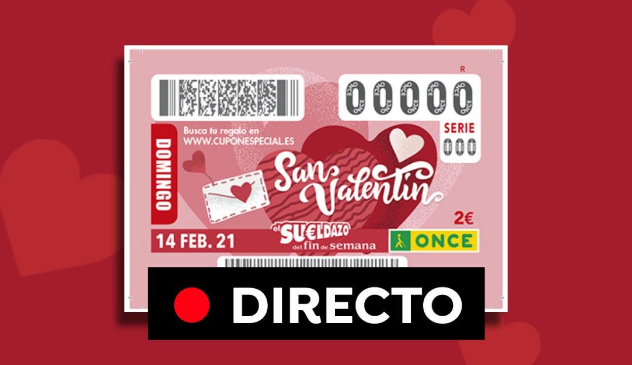 Comprobar ONCE: Resultado del sorteo del Sueldazo de San Valentín 2021 hoy, en directo