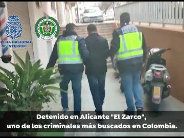 Detienen en Alicante a 'el Zarco', uno de los criminales más buscados de Colombia