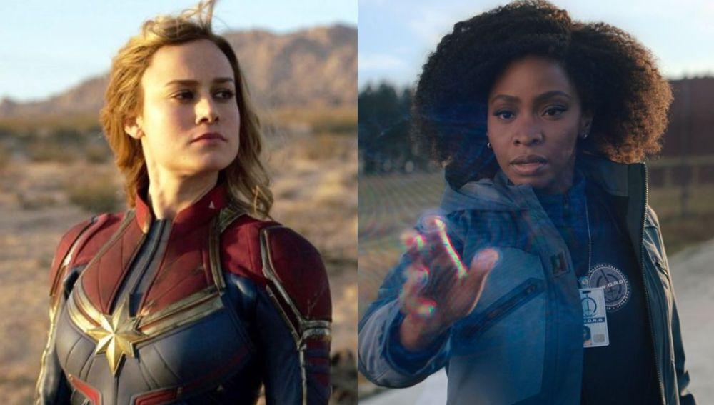 Capitana Marvel y Monica Rambeau