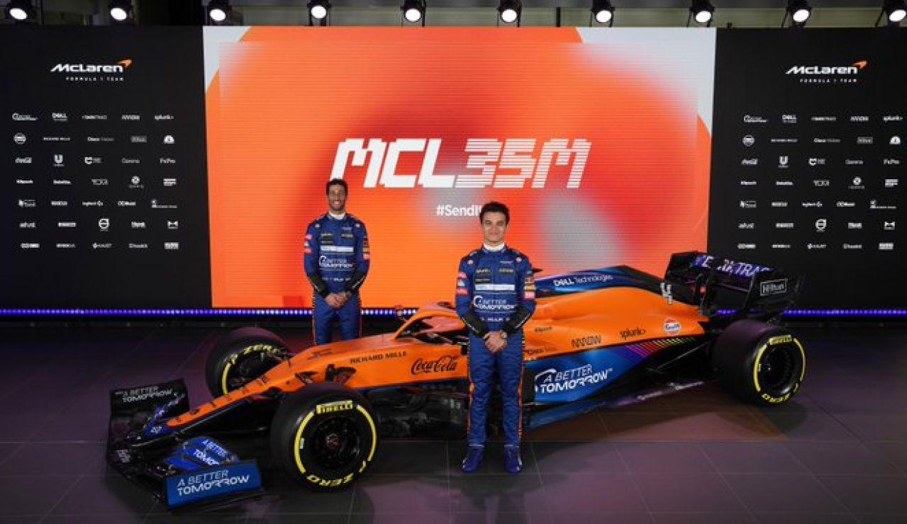 Así es el nuevo McLaren MCL35M con motor Mercedes-AMG