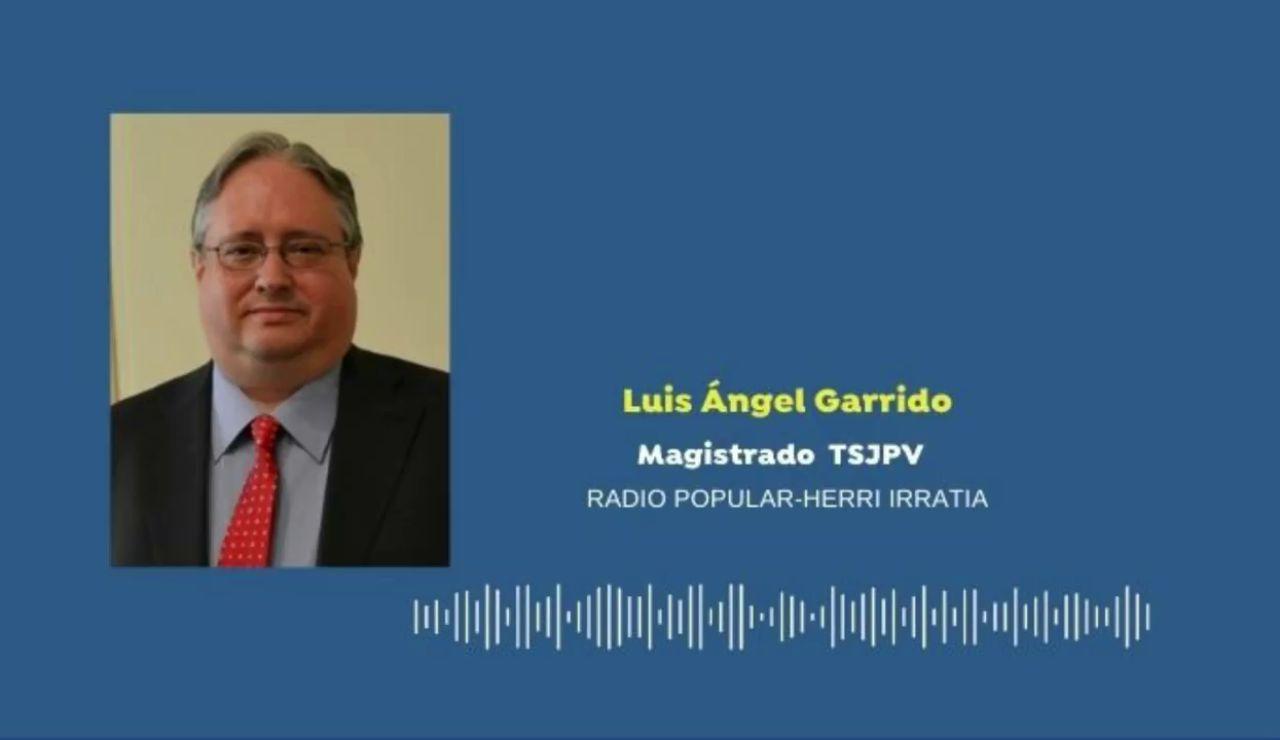 El juez del País Vasco Luis Ángel Garrido pide perdón a los epidemiólogos y reconoce su labor en la pandemia