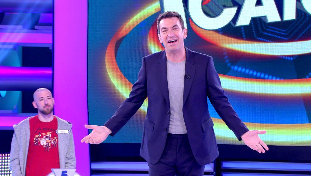 Arturo Valls da la bienvenida al nuevo '¡Ahora caigo!
