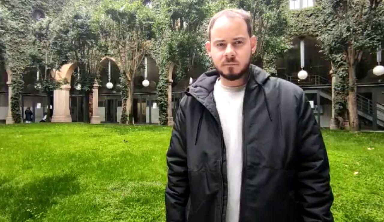 Pablo Hasel y los miembros de la plataforma que piden su libertad se encierran en en el rectorado de la Universitat de Lleida