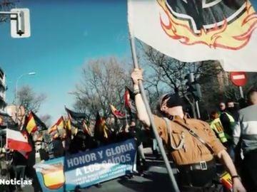 Manifestación neonazi en Madrid