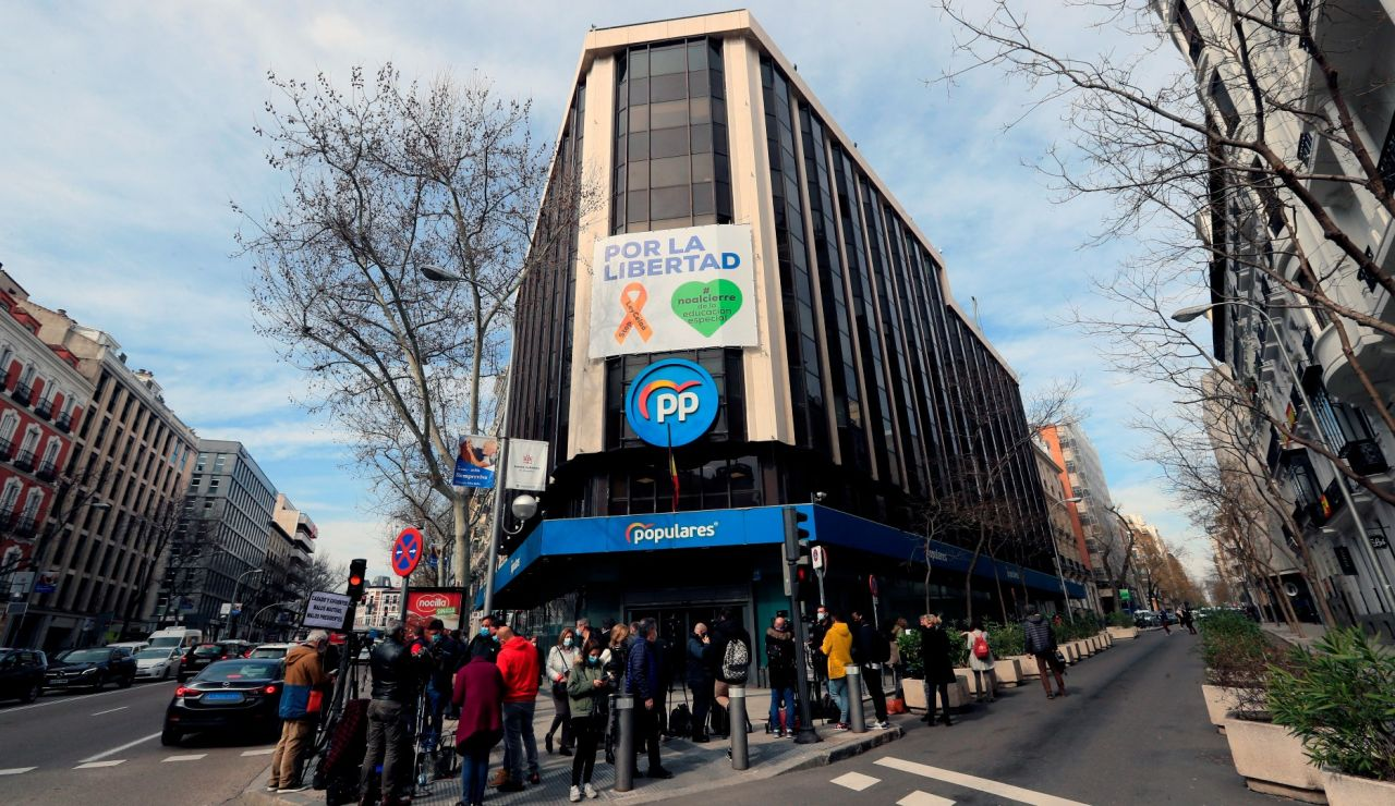 La sede nacional del PP en calle Génova