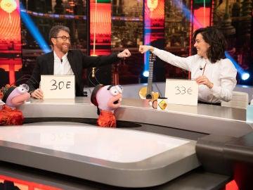 Vicky Luengo fulmina a Pablo Motos en el divertido 'Precio justo' de Trancas y Barrancas